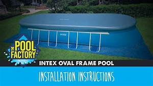 Intex Oval Frame Pools Instructions
