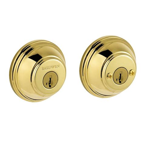 baldwin prestige double cylinder polished brass round