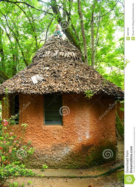clay hut stock photo image  home walls indian blue