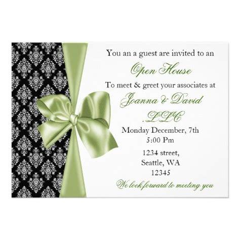 elegant stylish green corporate invitation zazzlecom