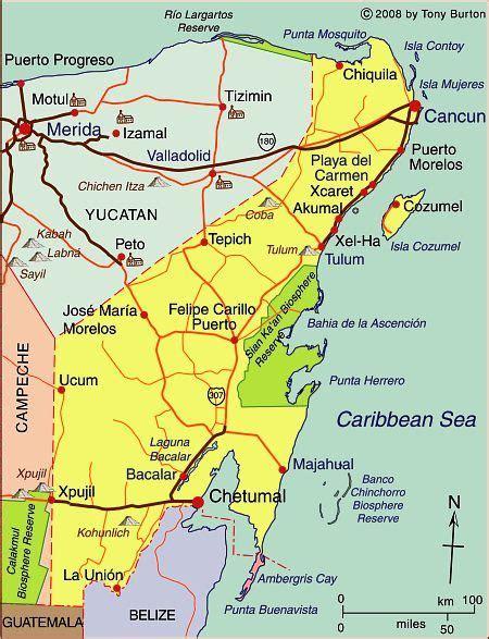 interactive map  quintana roo mexico mexico pinterest
