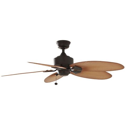 52 outdoor ceiling fan hton bay lillycrest 52 in indoor outdoor aged bronze