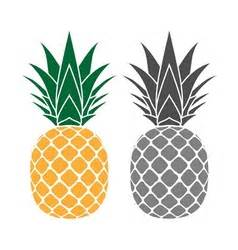 pineapple top silhouette pineapple gray icon royalty free vector image vectorstock