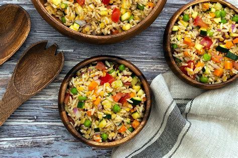 salade de riz complet vegan amandine cooking