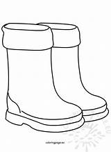 Boots Rain Shoes Children Coloring Coloringpage Eu sketch template