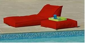 Matelas De Bain De Soleil : transat matelas extrieur 165x73cm rouge dcoration terrasse jardin ~ Teatrodelosmanantiales.com Idées de Décoration