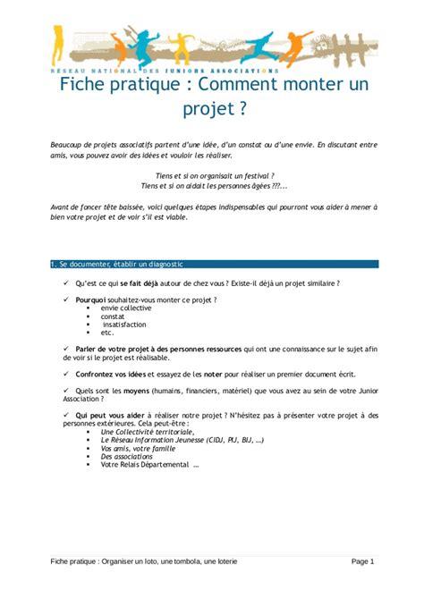 fiche pratique comment monter un projet maj020909