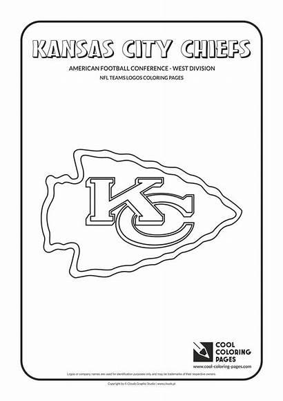 Coloring Nfl Logos Chiefs Kansas Teams Cool