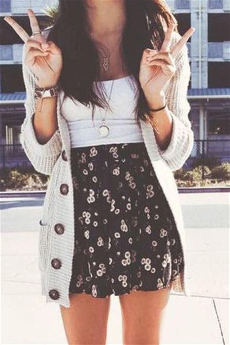 Skirt swaeter cardigan girly cute nice cute outfits nice outfit cute skirt cute skirt ...