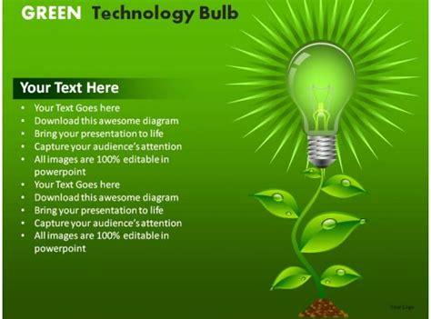 green technology bulb powerpoint