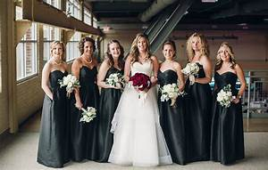 Classic Fall Wedding, Black and White with Crimson Red ...