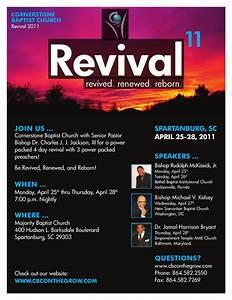 free church revival flyer template - church revival ideas