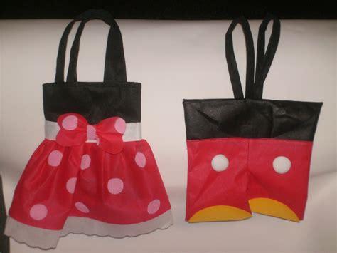 bolso de tela con tutu minnie y mickey mouse bs 2 950 00 en mercado libre