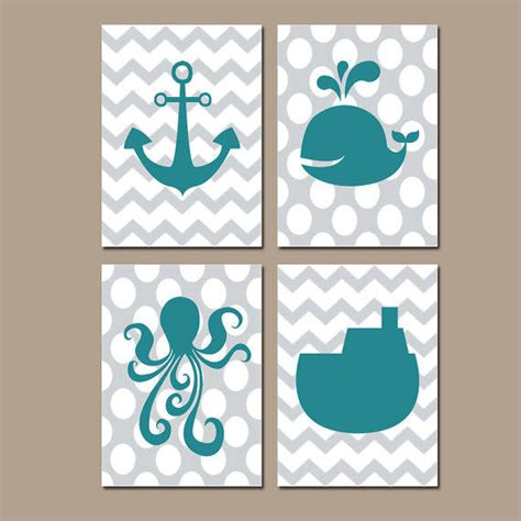 nautical bathroom wall teal from trm design wall