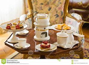 Tea Table Setting Stock Image  Image Of Retro  Porcelain
