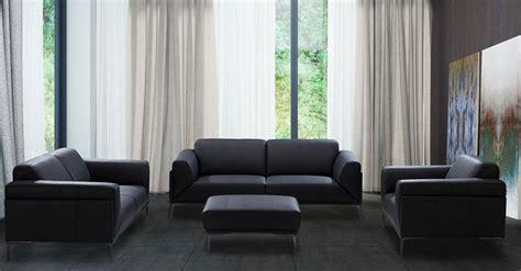 knight black leather living room set  jnm coleman