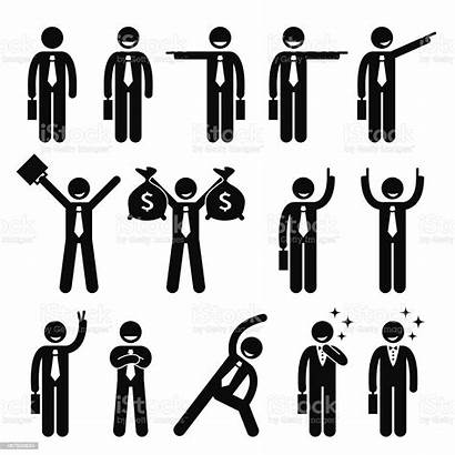 Stick Figure Business Happy Vector Action Poses