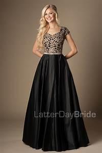 modest-prom-dress-emily-front-black.jpg | sunday best ...