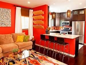 photo page hgtv With what kind of paint to use on kitchen cabinets for brown and orange wall art