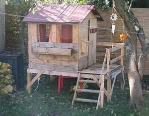 Cabane Exterieur Enfant : cabane avec palette de bois seaandsea ~ Melissatoandfro.com Idées de Décoration