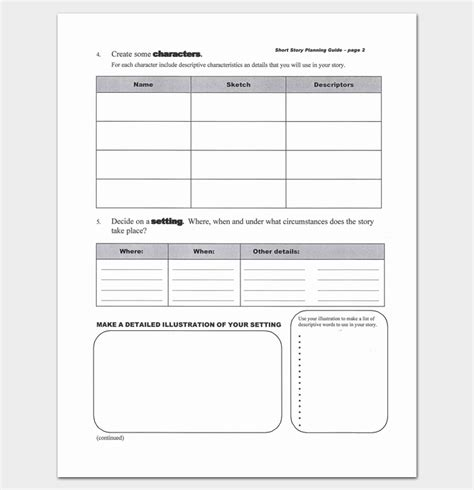 Story Outline Template Story Outline Worksheet Outline Templates Create