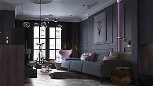 Dark Living Room Design Ideas With Sophisticated Decor