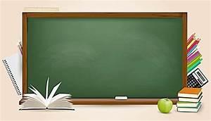 Green Chalkboard Background Powerpoint Vector Textured Three Dimensional Blackboard Stationery