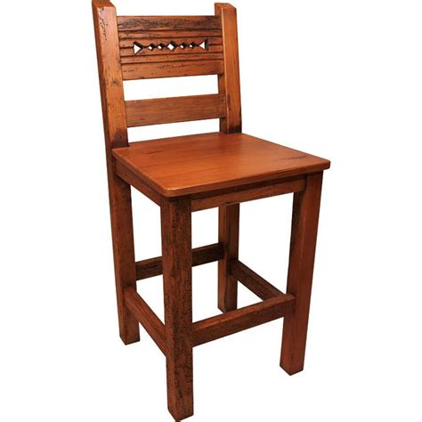 Rustic Furniture  Southwestern Rustic Tall Taos Bar Stool