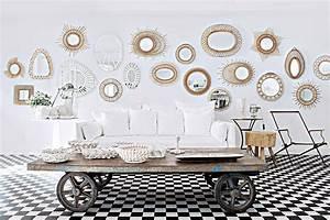 Miroir Deco Salon : 7 fa ons d agrandir l espace avec un miroir marie claire ~ Melissatoandfro.com Idées de Décoration