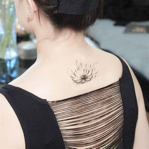 Cou De Tatouages Temporaires Dos Fleur De Lotus Maquillage