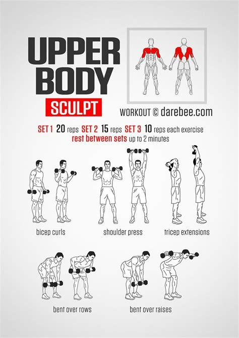 workout upper body chest sculpt exercice