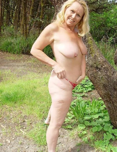Hot Blond Amateur Mom Likes Being Naked Outdoors Picture