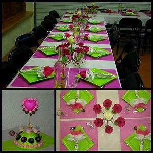 Centre De Table Chocolat : vert anis blanc et fushia maman s 39 clate ~ Zukunftsfamilie.com Idées de Décoration