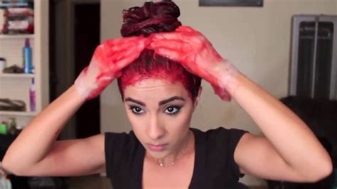 dye hair red   bleach  loreal hicolors