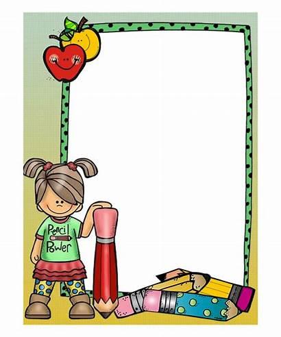 Border Teacher Clipart Frames Borders Cartoon Paper