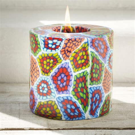 swazi fair trade mosaic pillar candle cm swazi candles