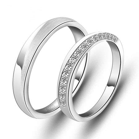 matching wedding bands for him and sterling silver cubic zirconia his and hers matching wedding bands egifts2u