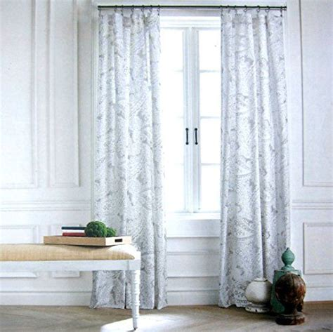Hilfiger Curtains White by Hilfiger Mission Paisley Scrolls Boteh Pattern