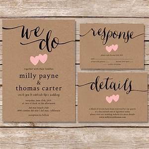 rustic wedding invitation kraft paper wedding by paperhive With kraft paper wedding invitations cheap