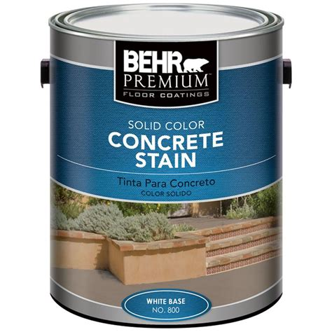 behr premium  gal white solid color concrete stain