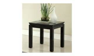 Sharla Black High Gloss Glass Top Contemporary End Table