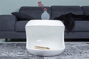 Moderner Beistelltisch SPIN 45 Cm Wei Couchtisch Tisch