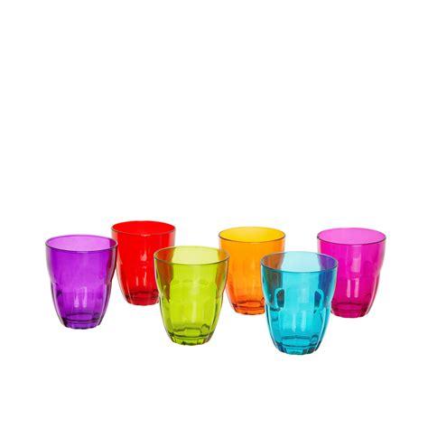 Bicchieri In Vetro Colorato by Set 6 Bicchiere Vetro Colorato Coincasa