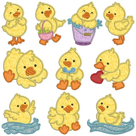Machine Applique Designs by Ducky Machine Applique Embroidery Patterns 10