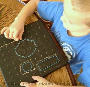 Math Fun With A Chalkboard Geoboard  Contributed By The