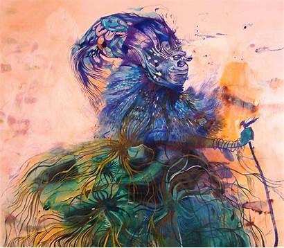 Estela Cuadro Artist Tribalism Psychedelia Painting Painter