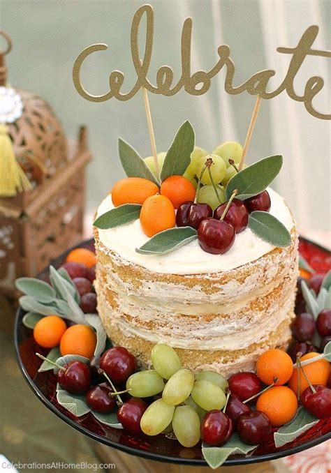 cakes decorated with fruit moroccan inspired moroccan and fruit