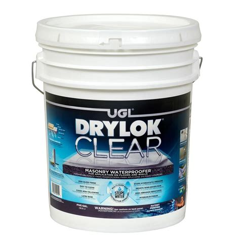 drylok 5 gal clear masonry waterproofer 20915 the home