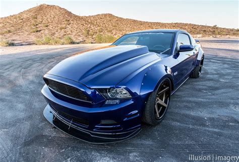 mustang wide body fender flares front  rear