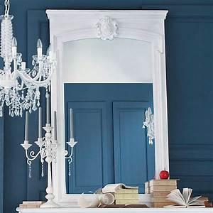 Miroir Baroque Maison Du Monde : miroir trumeau en sapin blanc h 160 cm maisons du monde ~ Melissatoandfro.com Idées de Décoration